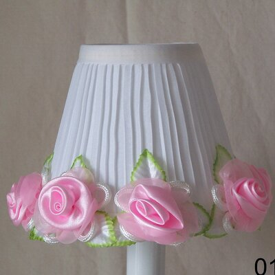 Rose Garden 5 Fabric Empire Candelabra Shade