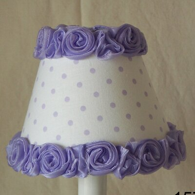 Little Miss Muffet 5 Fabric Empire Candelabra Shade Color: Lavender