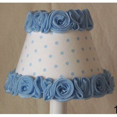 Little Miss Muffet 5 Fabric Empire Candelabra Shade Color: Blue