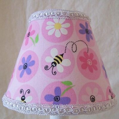 Fun Flower Garden 5 Fabric Empire Candelabra Shade