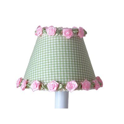 Gardens of Gingham 11 Fabric Empire Lamp Shade Shade Color: Green