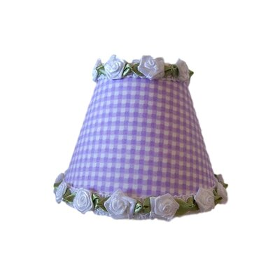 Gardens of Gingham Night Light Shade Color: White / Purple