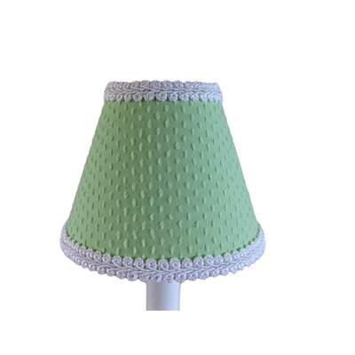 Teeny Chenille 11 Fabric Empire Lamp Shade Color: Green