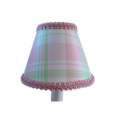 Taffy 5 Fabric Empire Candelabra Shade Color: Pink / Green