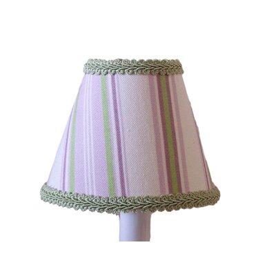 Plush Blush 5 Fabric Empire Candelabra Shade Color: Lavender / Green