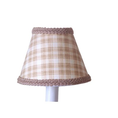 Beach Shack Plaid 5 Fabric Empire Candelabra Shade