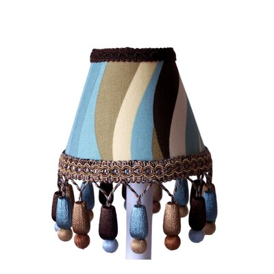 Brown Licorice Twist 5 Fabric Empire Candelabra Shade