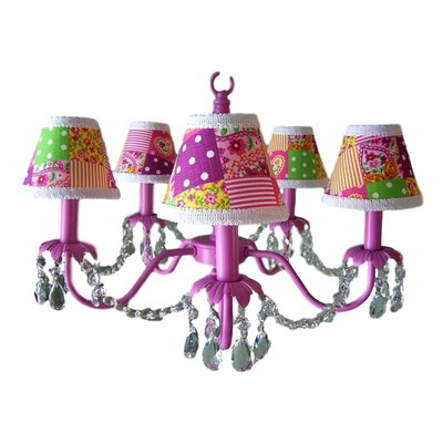 Camillah 5-Light Shaded Chandelier Shade: Patchwork Patterns
