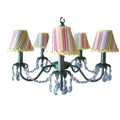 Camillah 5-Light Shaded Chandelier Shade: Glorious Stripes