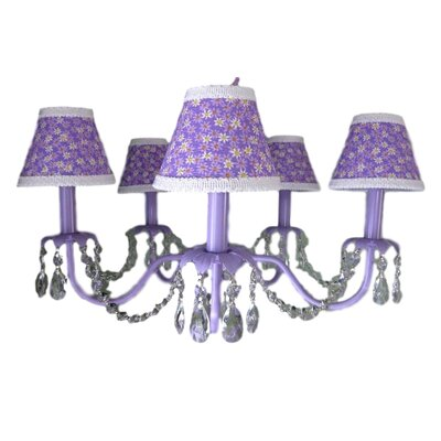 Camillah 5-Light Shaded Chandelier Shade: Dancing Daisies