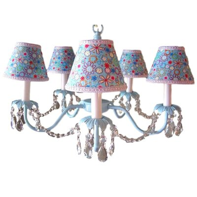 Camillah 5-Light Shaded Chandelier Shade: Crazy Daisy