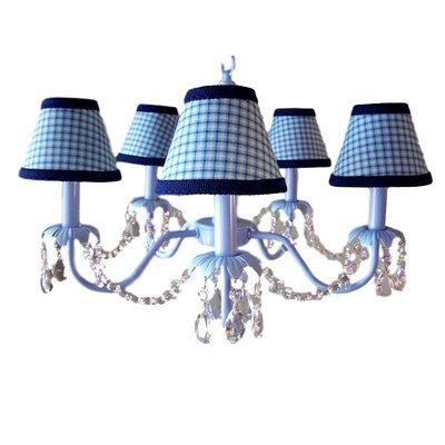 Camillah 5-Light Shaded Chandelier Shade: Spartan Plaid