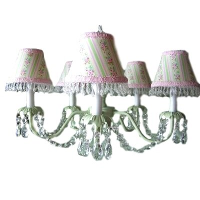 Camillah 5-Light Shaded Chandelier Shade: Striped Floral