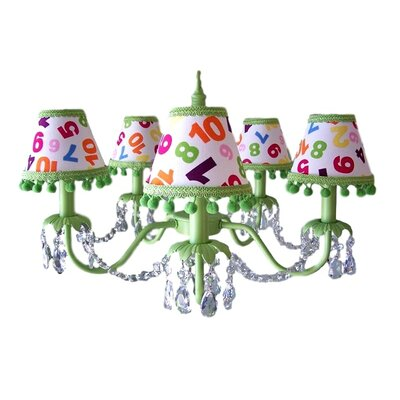 Camillah 5-Light Shaded Chandelier Shade: Pretty Petals