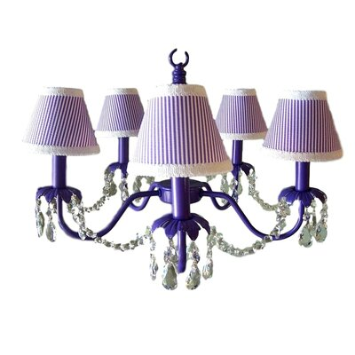 Camillah 5-Light Shaded Chandelier Shade: Its Good to be Grape