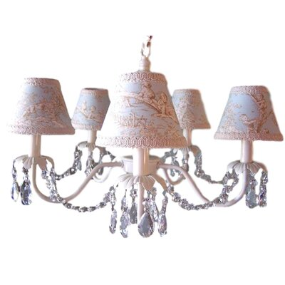 Camillah 5-Light Shaded Chandelier Shade: Central Park Blue