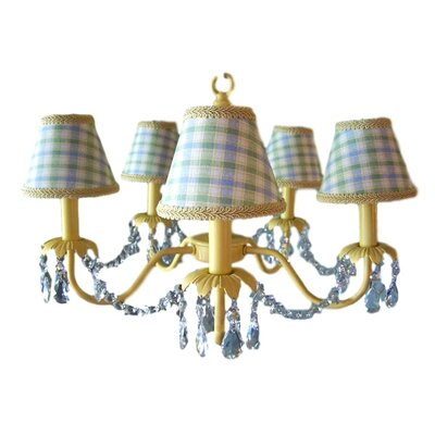 Camillah 5-Light Shaded Chandelier Shade: Classic Boy