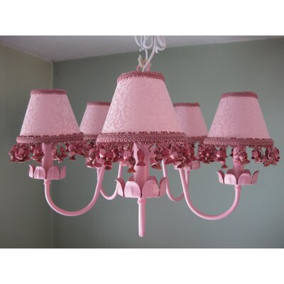 Mad About Mauve 5-Light Shaded Chandelier Shade: Nanas Wallpaper