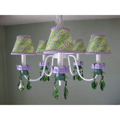 Lavender Fields 5-Light Shaded Chandelier Shade: Mushroom Spot