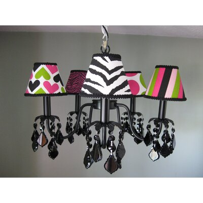 Wild Child Mix and Match 5-Light Shaded Chandelier