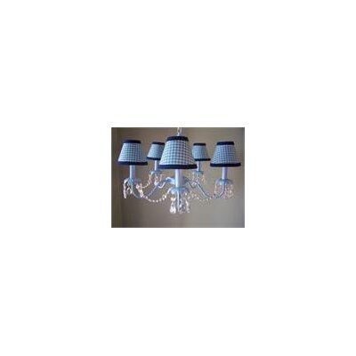 Camillah 5-Light Shaded Chandelier Shade: Sky Blue