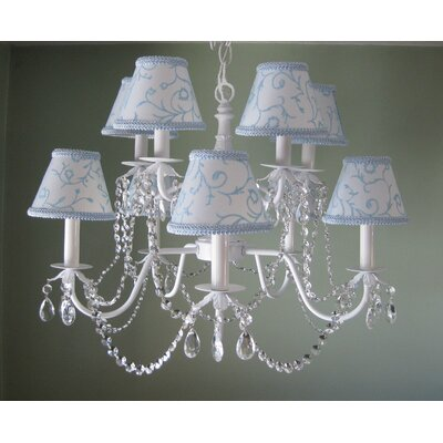 Majestic Queen 10-Light Shaded Chandelier Shade: Rapunzels Tower Pink