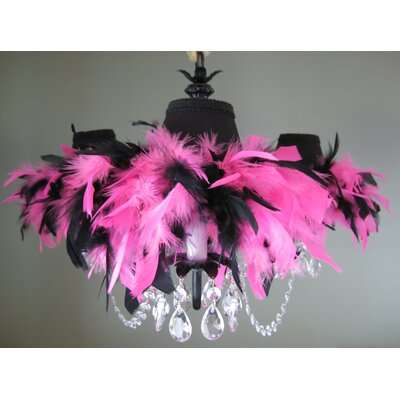 Fiesty and Fashionable 3-Light Crystal Chandelier
