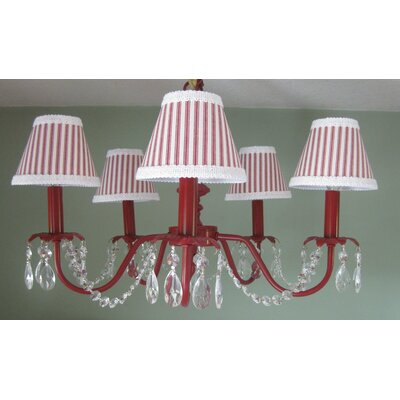 Camillah 5-Light Shaded Chandelier Shade: Fire House Stripe