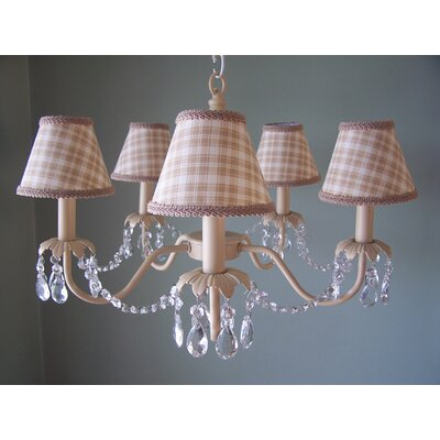 Camillah 5-Light Shaded Chandelier Shade: Sugar Cookie
