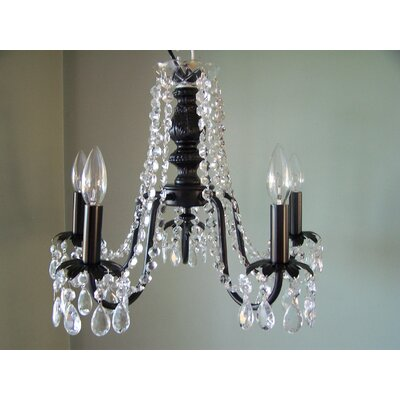Miss Mercedes 5-Light Crystal Chandelier