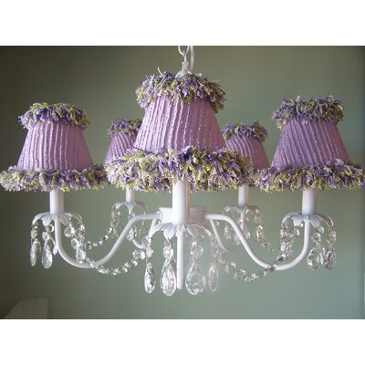 Sugar Plum 5-Light Shaded Chandelier Shade: Precious Pink