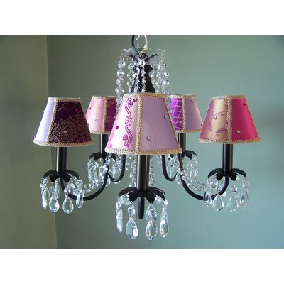 Bohemian Baby 5-Light Shaded Chandelier