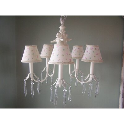 Angel Baby 5-Light Shaded Chandelier Shade: Angelic Floral