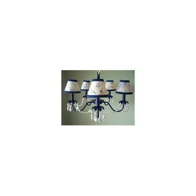 Camillah 5-Light Shaded Chandelier Shade: Drop Anchor