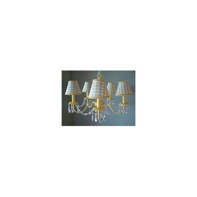 Camillah 5-Light Shaded Chandelier Shade: Fun Primary Plaid