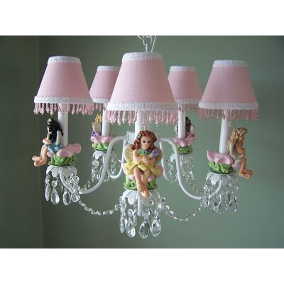 My Fairy Princess 5-Light Shaded Chandelier Shade: Fairy Sparkle