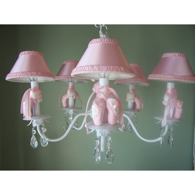 Ballerina Princess 5-Light Shaded Chandelier Shade: Pirouette Pink