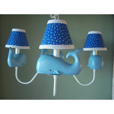 Baby Beluga 3-Light Shaded Chandelier