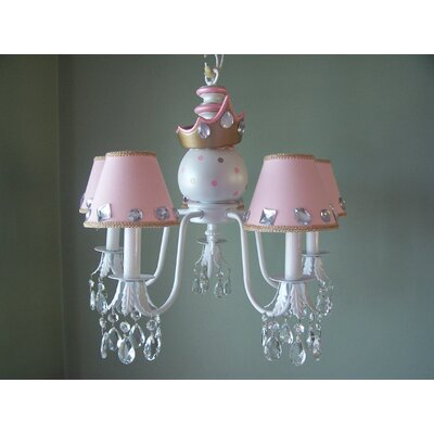 My Royal Princess 5-Light Shaded Chandelier Shade: Material Girl