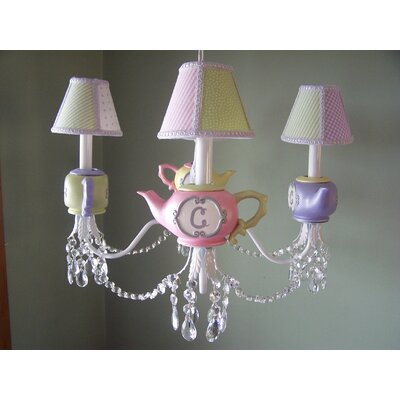 Millies Teaparty 3-Light Shaded Chandelier Shade: Fairy Sparkle