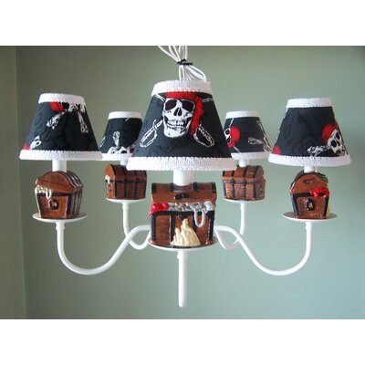 Pirates Treasure 5-Light Shaded Chandelier Shade: Pirates Code