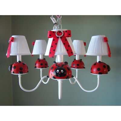 Little Ladybug 5-Light Shaded Chandelier Shade: Picnic Play