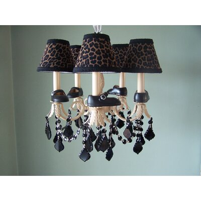 Lil Mama Mary Janes 5-Light Shaded Chandelier Shade: Lil Mama Leopard