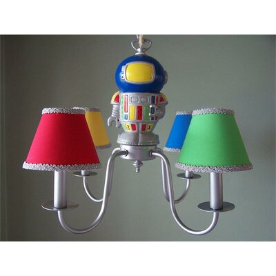 Space Robot 4-Light Shaded Chandelier
