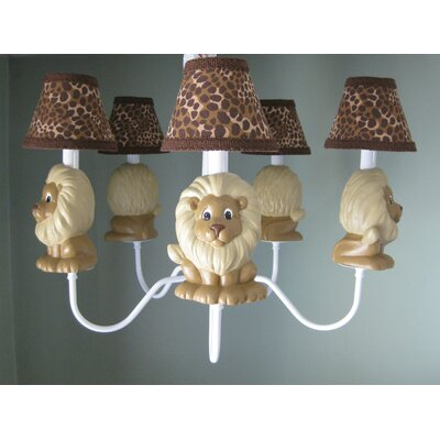 Lion Pride 5-Light Shaded Chandelier Shade: Into The Blue