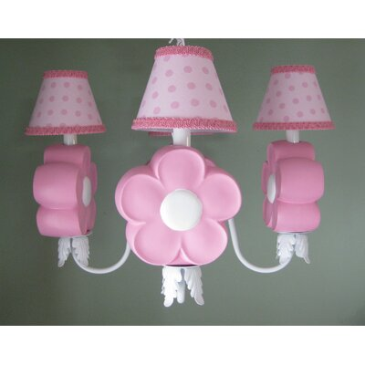 Daisy Delight 4-Light Shaded Chandelier Shade: Dipsy Dots