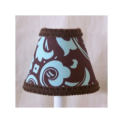 Chocolate Coated Damask 11 Fabric Empire Lamp Shade