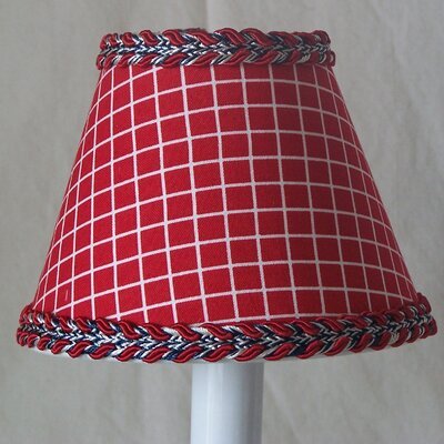 Firemans Check 5 Fabric Empire Candelabra Shade