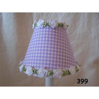 Gardens Of Gingham 11 Fabric Empire Lamp Shade Color: Lavender