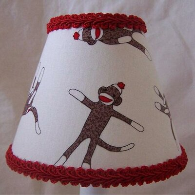 Sock Monkey Madness 5 Fabric Empire Candelabra Shade